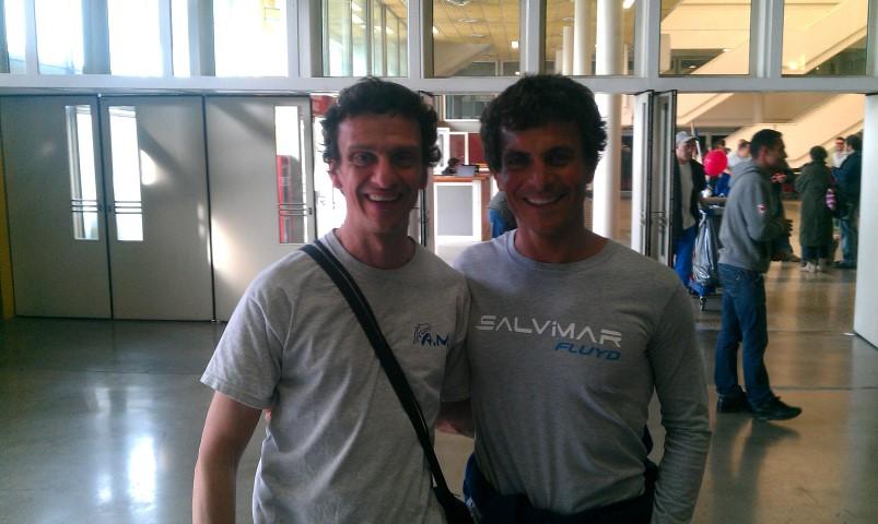 Eudi 2014 - Davide Carrera (campione del mondo, a dx) e Cristiano che gli assomiglia solo nel cesto di capelli!