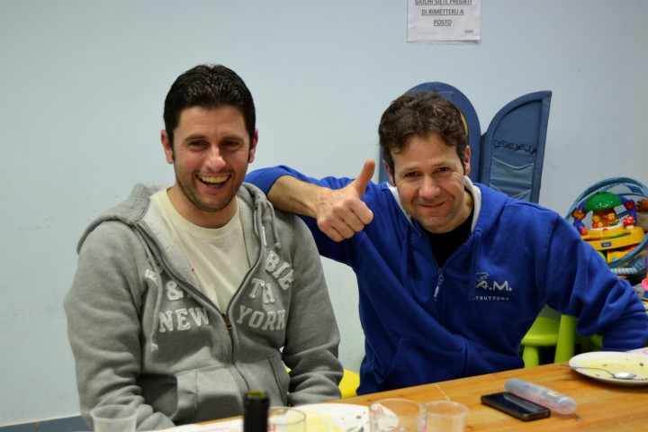I nostri 'carnefici': Mauro (Istruttore A.A. a dx), Andrea (Assistente A.A.)